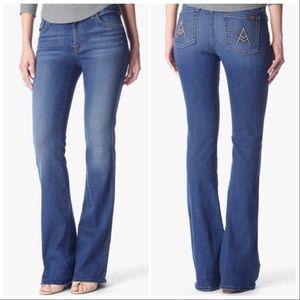 "7FAM ""A"" Pocket Flare Jeans Size 28"
